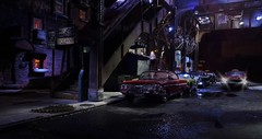 Elevated Subway Night 2 (gpholtz) Tags: diorama miniatures 118 diecast 1961 chevrolet impala