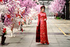 Ao Dai 2018 III (Tommy K Le) Tags: ao dai dress red colorful white pink street head band girl beauty vietnam asia saigon hochiminhcity portrait fashion fujifilmxt1