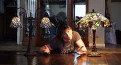 63/365 (boxbabe86) Tags: 200views santaclarita obsessed woman selfie jen livingroom tiffanylamp march shadowpines a6000 sony 10secondtimer timer day63 365days lamps
