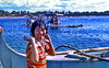 Smile (gerard eder) Tags: world travel reise viajes asia southeastasia philippines manilabay wasser water beach strand boats boote barcas blue paisajes panorama playa people peopleoftheworld women outdoor pacific pacificocean sea seascape