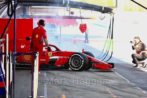 Sebastian Vettel during Formula One Winter Testing 2018