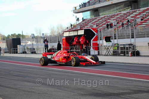 Sebastian Vettel in Formula One Winter Testing 2018