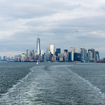 Manhattan skyline from the Staten Island Ferry. thumbnail