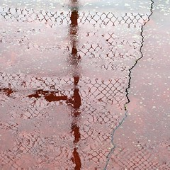 winter rain III (jim_ATL) Tags: winter rain tennis court fence reflection puddle abstract atlanta