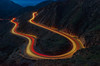 Hairpin (RichGreenePhotography.com) Tags: longexposure grimescanyonroad caifornia highway23 hairpin cars traffic lights streaks canyon country fillmore moorpark socal bluehour headlights taillights californiastateroute23 lighttrails
