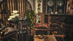 奶奶家 (CalebBryant) Tags: sl secondlife asian furniture decor chinese dynasty home house sanarae rh marukado drd ariskea construct air unrepentant pillows kalopsia bluesky pixelmode