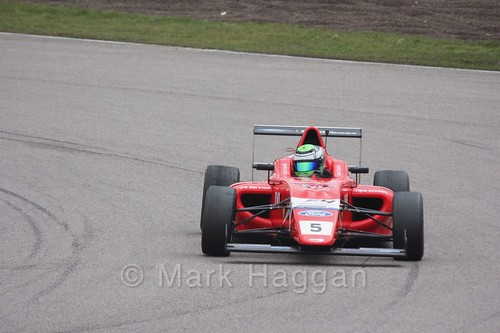 Patrik Pasma in British F4 pre-season testing 2018