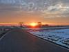 Long Way Home (W@nderluster) Tags: alba sky cloud cloudy outdoor travel street way sun sole strada winter inverno italy italia field trees albero nuvola road ciel