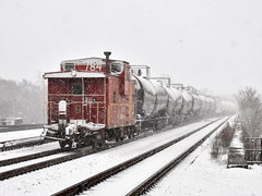 Welcome to March? (Robby Gragg) Tags: atsf caboose 999784 joliet