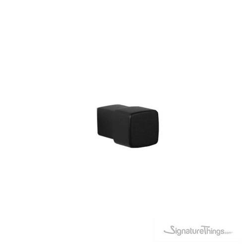 Matte Black Aluminum Coated Cube Knob | Unique Drawer Pull