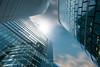 Il suffit parfois de lever la tête :) (LDream2505 (Michel Dogniaux)) Tags: blue building bruxelles skyscrapers high belgium reflect