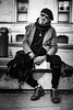 El Dude (Kieron Ellis) Tags: man street portrait blackandwhite blackwhite glasses beret