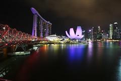 Marina Bay, Singapore. (angolming@gmail.com) Tags: building bay 2018 landscape cityscape light night longexposure singapore angolming