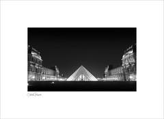 Louvre (Charlie Pragnell) Tags: louvre paris architecturalphotography glass pyramid blackwhite museum france wwwcharlespragnellphotographynet