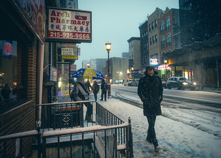 Snowy Nights in Chinatown