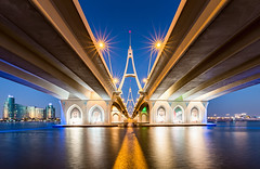 _MG_3487 - The Business Bay bridge, Dubai (AlexDROP) Tags: 2018 dubai uae travel perspective bridge architecture water color city wideangle urban scape canon6d ef16354lis best iconic famous mustsee picturesque postcard bluehour hdr