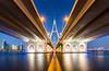 _MG_3487 - The Business Bay bridge, Dubai (AlexDROP) Tags: 2018 dubai uae travel perspective bridge architecture water color city wideangle urban scape canon6d ef16354lis best iconic famous mustsee picturesque postcard bluehour hdr