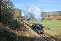 7822 Foxcote Manor approaching Crowcombe. (johncheckley) Tags: d90 uksteam railway train loco manor steam