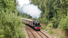 44932 Sandhurst 12 August 2010 (2) (BaggieWeave) Tags: steamengine steamlocomotive steam steamtrain 44932 black5 blackfive berkshire sandhurst littlesandhurst 460 cathedralsexpress