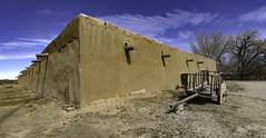 this not my beautiful house (.sanden.) Tags: taos lahaciendadelosmartinez newmexico nm building adobe red wood trees blue wagon canon7dmarkii efs1018mm 10mm us sanden unitedstates