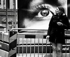 (andersåkerblom) Tags: monochrome blackandwhite bnw bw watching streetlife streetphotography streetphoto street woman eye