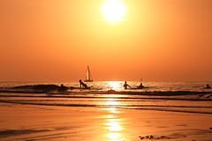 Bathing & sailing in a golden sea - Tel-Aviv beach - Follow me on Instagram:  @lior_leibler22 (Lior. L) Tags: bathingsailinginagoldenseatelavivbeach bathing sailing golden sea telaviv beach telavivbeach israel