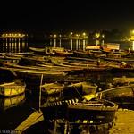 Varanasi (Benares) - Man Mandir Ghat - Nightly view over the Ganges river thumbnail