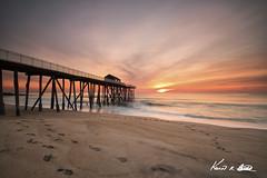 Sunrise off the Fishing Pier. (Kevin R. Burkitt) Tags: belmar fishingpier fujixpro21024f4 leefilters manfrotto monmouth monmouthcounty newjersey reverseneutraldensity sunrise superstopper