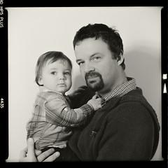 Bronica SQ-A-046-012 (michal kusz) Tags: bronica sqa ilford hp5 1600iso zenzanon s ilfosol 3 114 27min epson v600 120 film frame squere sq 6x6 1600 portrait format toned father son boy 110mm