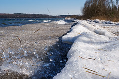 Last waves of winter (hopefully) (Martin von Ottersen) Tags: sel24f18z lake see plau mecklenburg germany winter wind shore wave wellen ice chill eis ufer