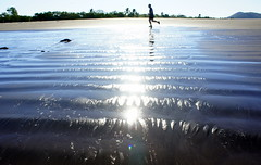 Low Tide (malgor13) Tags: ocean nicaragua runner morning reflections waves sand vacation