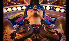 Fiberglass Harpy (Whitney Lake) Tags: explore 83 lights colors fiberglass woman harpy nevada vegas lasvegas signage sculpture