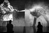 Meeting (Kistys) Tags: museum artiste public bw monochrome pompier exhibition performance symétrie pentax australie voyage melbourne ianpottermuseum blackwhite water shadow contrast