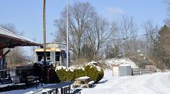 Meyersdale, Pennsylvania (5 of 5) (Bob McGilvray Jr.) Tags: meyersdale pa pennsylvania caboose cupola steel blue display static public co chesapeakeohio meyersdaleareahistoricalsociety station depot railroad train tracks