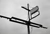 Seaside, Oregon (austin granger) Tags: seaside oregon sign dans decay impermanence evidence wires rust cross skeletal time film gw690