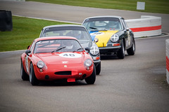 chicane battle (jonbawden50) Tags: goodwood 76th members meeting mm classic vintage historic racing cars simca abarth