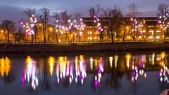 Colourful Wroclaw (HansPermana) Tags: wroclaw wrocław breslau poland polen polska christmas lights merry joy joyful longexposure eu europa europe centraleurope winter december 2017 city cityscape odra oder river fluss colorful