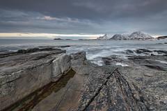 Ramberg Shore, Evening (Keith - Glasgow) Tags: arctic wildphotographyholidays wph ramberg winter travel lofoten landscapes d850 norway nordland no sea coast shore