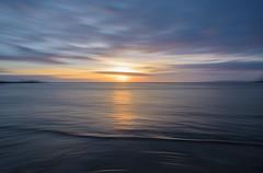 Early Morning at the Beach (glendamaree) Tags: sunrise panningshot panningphoto panning slowshutter abstract blur seaside beach icm intentionalcameramovement