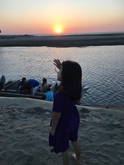 Esme on a sand dune at sunset (olive witch) Tags: 2017 abeerhoque bangladesh bd coxsbazar day dec17 december fem kid outdoors sea sunset