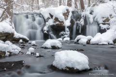 The Secret Waterfall (Brian M Hale) Tags: rutland ma mass massachusetts secret waterfall water falls winter snow river stream wilderness outside outdoors nature woods forest rural secluded newengland new england usa induro brian hale brianhalephoto breakthrough filters nd long exposure snowing ice
