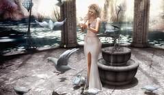 Love is the purest form of a soul at peace. (desiredarkrose) Tags: gown fantasy peace love fashion fashionblog secondlife sl luanes unitedcolors ariskea dahlia tableauvivant supernatural