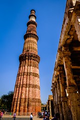 Delhi - Qutub Minar (Tower of victory) (Robert GLOD (Bob)) Tags: architecture building construction islam minaret religion religious sky spiritual spirituality tower unesco newdelhi delhi inde ind in india