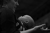 ANIMATED MOTHER + ADORING BABY, PHOTOGRAPHY SHOW, NEC_DSC_8260_LR_2.5 (Roger Perriss) Tags: 2018 photographyshow people blackandwhite baby gaze love mother woman hand minimal
