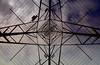 Plus Frame (Rhubus) Tags: metal frame grid angles angular engineered electricity tower up sky