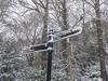 Theres Snow Where To Go (johnpaulwarwick) Tags: snow sign park winter cold newcastle jesmonddene