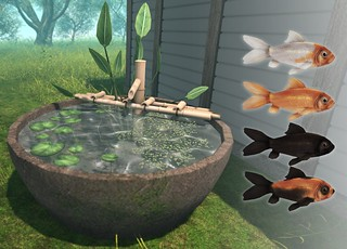 JIAN Goldfish Bamboo Fountain Pot ( FaMESHed March )