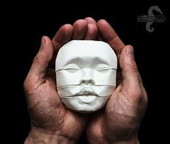 A new Beginning (mitanei) Tags: mitanei keepfoldingon keepfodlingon faces infant baby wetfolding paperart papierkunst papersculpture sculpture art kunst human