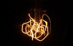 light (1979am) Tags: light electriclight bulb lightbulb electricity electro techno wire sourceoflight żarówka zarowka światło swiatlo shine current voltage eos canon 40d zarnik żarnik