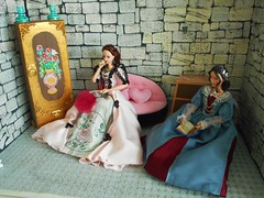 DSCN1863 (kreata_musateka) Tags: barbie missturquoisebarbiedoll miniature costume handmade handycraft mattel doll
